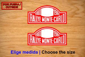 RALLYE-MONTECARLO-1980-VINILO-PEGATINA-VINYL-STICKER-DECAL-AUFKLEBER-AUTOCOLLANT