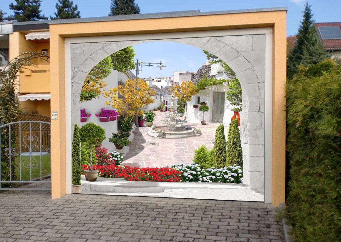 3D White town 33 Garage Door Murals Wall Print Decal Wall Deco AJ WALLPAPER UK