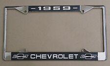 59 1959 Chevy car truck Chrome license plate frame