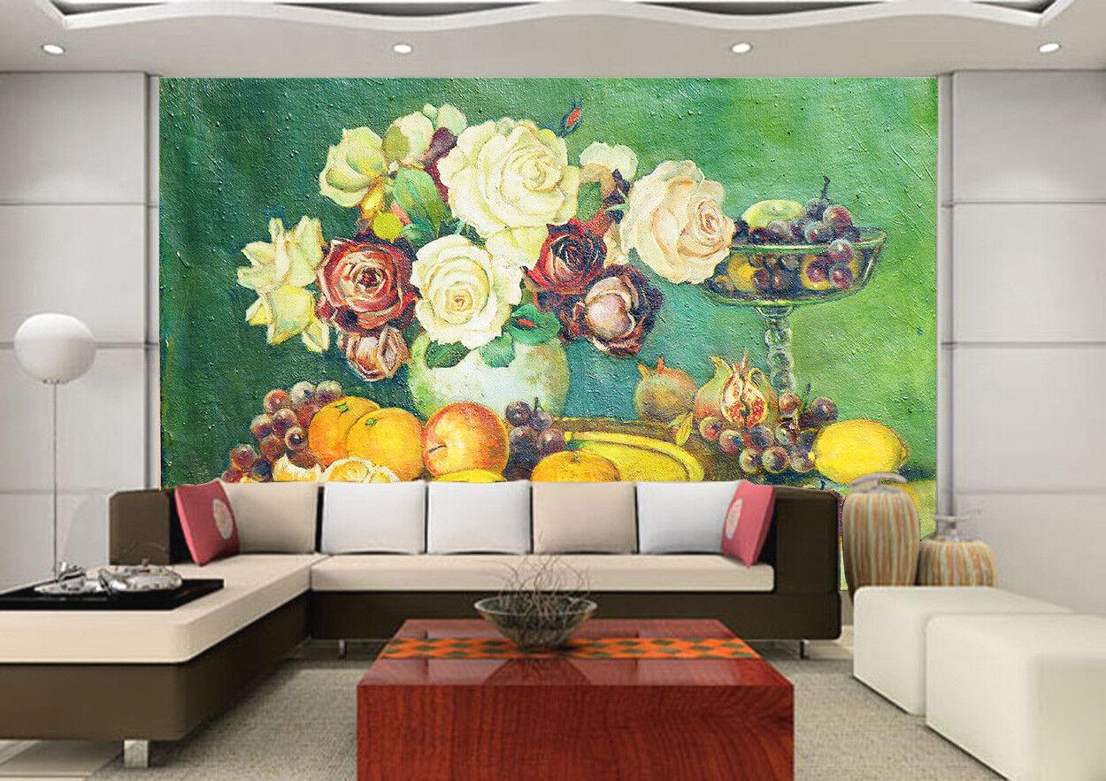 3D Petal Apple 4224 Wallpaper Murals Wall Print Wallpaper Mural AJ WALL UK Lemon