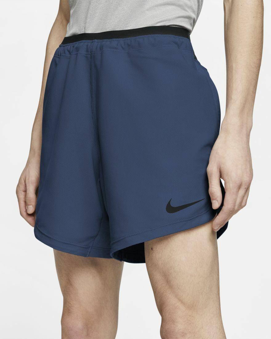 Para Hombre Nike Pro Entrenamiento Atlético Pantalones Cortos Místico Azul Marino Talla S Pequeño CJ4997-469