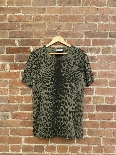 Pierre Balmain Men's Leopard Print Tee T Shirt, Sz