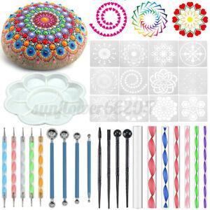 Mandala-Dotting-Art-Dot-Painting-Tool-Pen-Stencil-Template-Brush-Acrylic-New