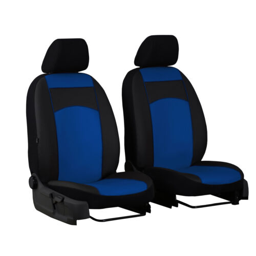 Universal Autositzbezüge Blau für Fiat Ducato II Bus 1+1 Schonbezüge Vordersitze
