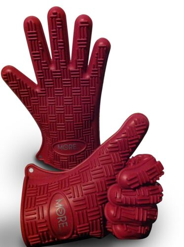 Burg... Silicone BBQ Gloves//Cooking Gloves Ultra-Odor Resistant Heat Protective