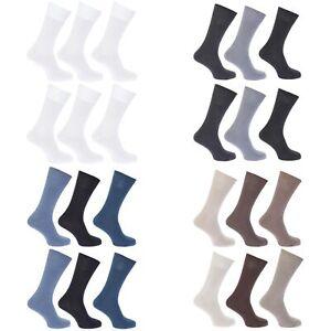 Chaussettes-unies-FLOSO-100-coton-Lot-de-6-paires-femme-W208