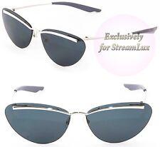 CHRISTIAN DIOR Designer Cat Eye Sunglasses DIORETTE 010T9 Silver Grey