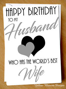 Image of: Greeting Cards Image Is Loading Funnyhappybirthdayhusbandcardnoveltycomedybest Ebay Funny Happy Birthday Husband Card Novelty Comedy Best Wife Comical