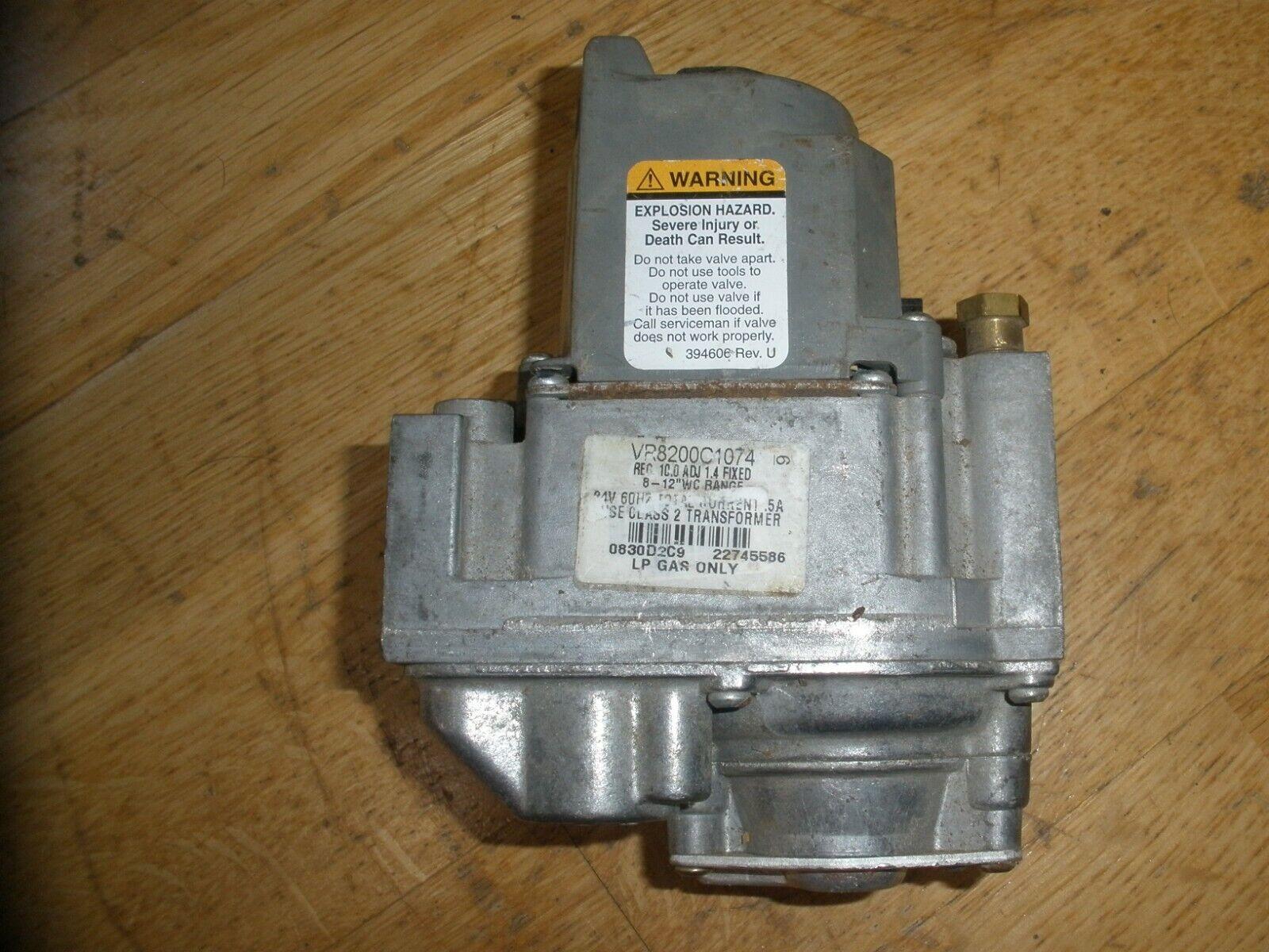 VR8200A2348 VR8200A 2348 Honeywell Furnace Standing Pilot Gas Valve NAT//LP GAS
