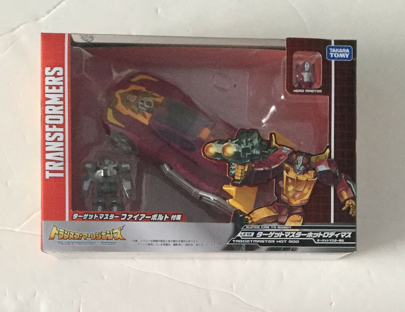 Transformers Takara Legends LG46 Hot Rod with Targetmaster