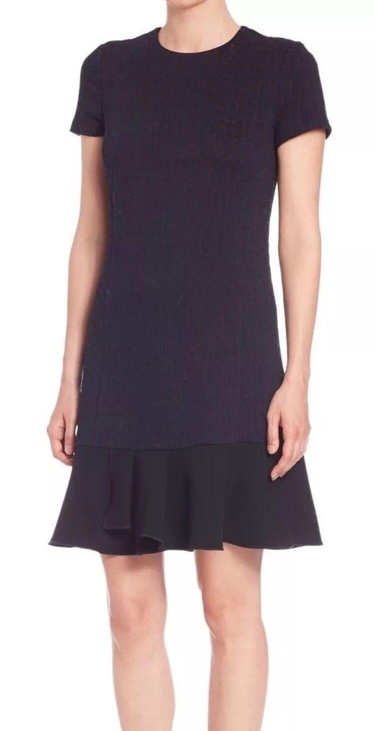 395 Tory Burch Quilted Jacquard Peplum Hem Shift Dress Size  XL