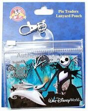 NEW Disney Parks Nightmare Before Christmas Jack & Zero Lanyard Pouch ID Holder