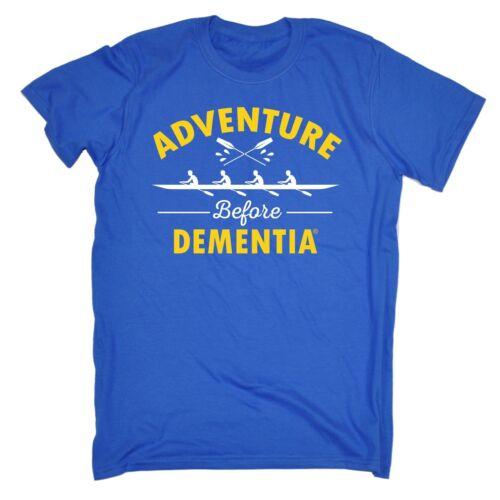 ADVENTURE Prima Demenza CANOTTAGGIO T-shirt Tee RIGA University Regalo Di Compleanno Divertente