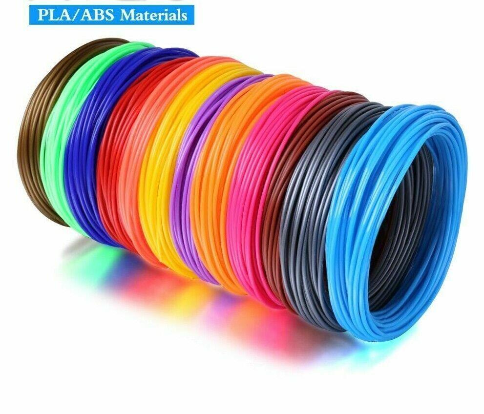 3D Printer Filaments ABS PLA Rubber 20 Colors Plastic Printing Pen Materials New