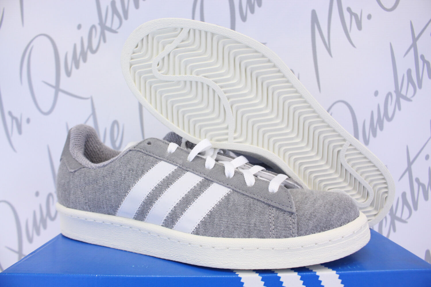 ADIDAS CAMPUS 80'S BW SZ 13 BEDWIN AND THE HEART BREAKERS GREY WHITE S75675 Scarpe classiche da uomo