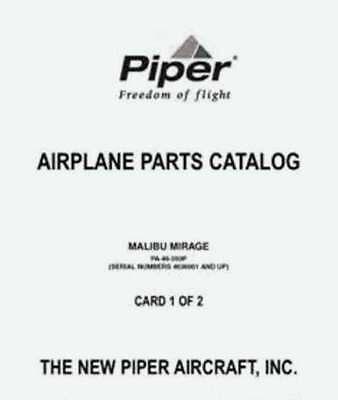 Piper Malibu PA-46-310P /& PA-46-350P Parts Catalog Manual