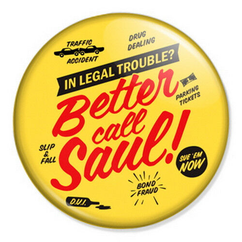 "Better Call Saul 25mm 1"" Pin Badge Button Breaking Bad Walt Goodman Retro"
