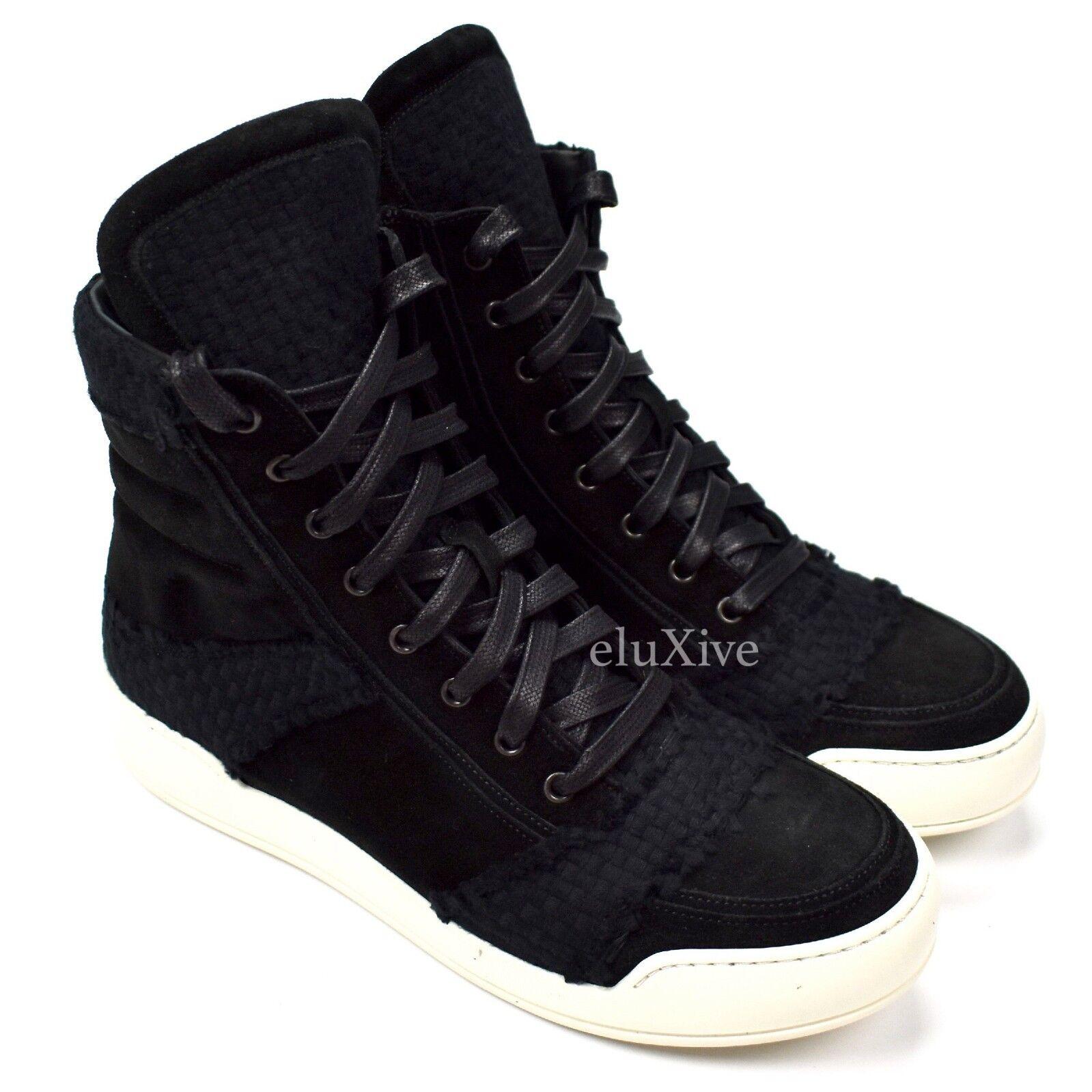 NWT  1140 Balmain Paris gamuza negra zapatos deportivos de cremallera 41 - 8