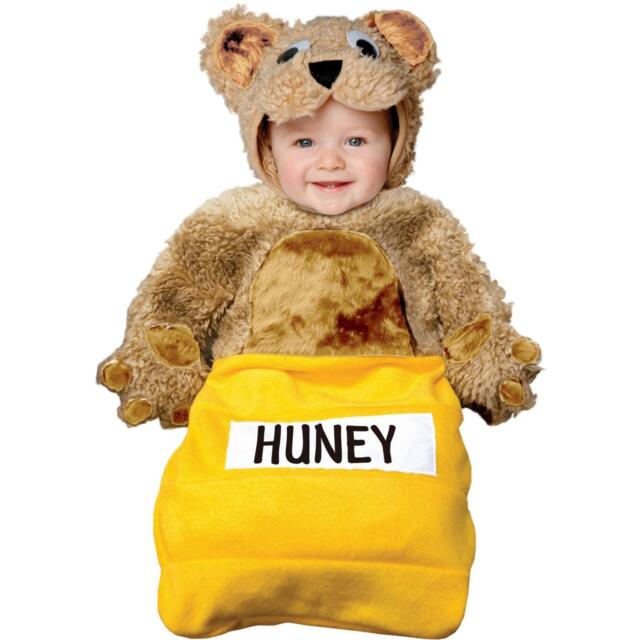 honey huney bear bunting sack halloween costume baby infant child toddler 0 6 mo