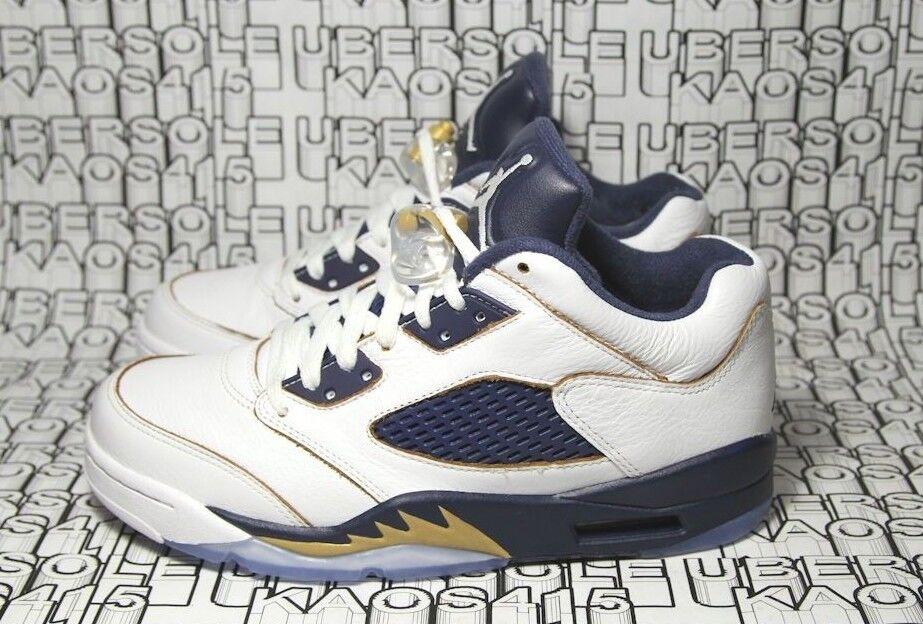 Nike Jordan V Low White Navy bluee bluee bluee gold 819171 135.5 gs 7y vi 3 UC MEN RARE SZ 7 2a317d