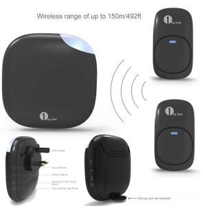 1byone Wireless Doorbell 150M Ring LED 36 Chimes Door Plug-in Receiver Sensor