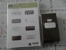 "Brand New Stampin' Up ""THAT'S THE TICKET"" Clear Stamp Set w/Matching Punch"