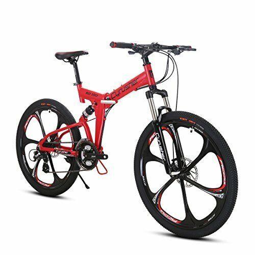 Mountain Bike Folding Bike Bicycle 26 In 24 Speeds Full Suspension RD100