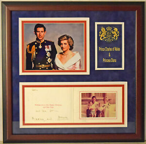 Princess-Diana-amp-Prince-Charles-Signed-Framed-Christmas-Card-Display-JSA-LOA