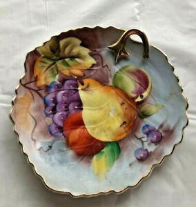 Vintage-Lefton-China-Fruit-Plate-6-5-inch-Lemon-Cookie-Server
