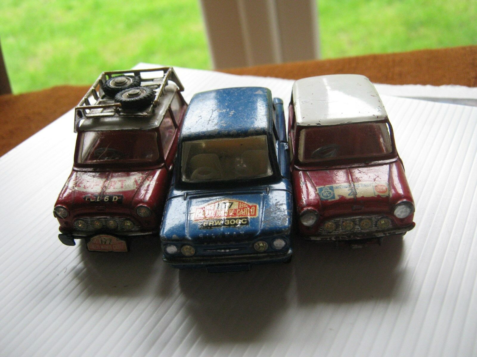 CORGI 328 333 339 ORIGINAL RALLY CARS CARS PLAYWORN CONDITION AS SHOWN