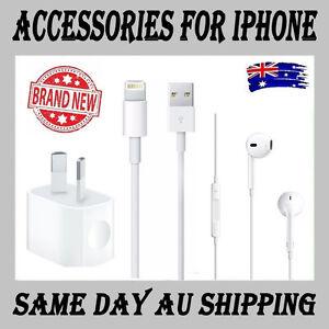 Apple-iPhone-X-7-Plus-8-6S-5-5S-5C-SE-6-8-Plus-Charger-Usb-Cable-Earphones