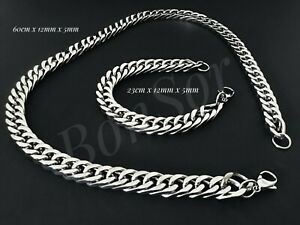 Herren-Edelstahl-Armband-Kette-Armkette-Biker-Panzer-Zopfkette-Silber-massiv