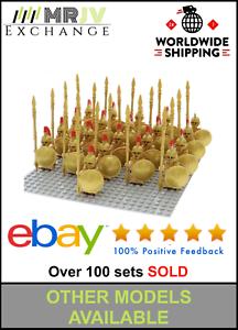 21-Minifigures-Gold-Spartan-Warrior-Spartacus-Shield-Toys-Block-Custom-UK