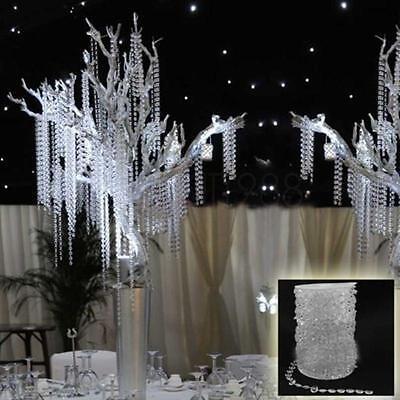 99FT Garland Diamond Strand Hanging Acrylic Crystal Bead Wedding Decoration