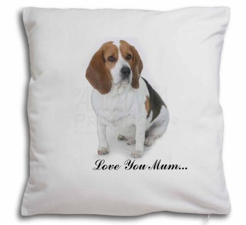 AD-BEA4lym-CPW Beagle Dog /'Love You Mum/' Soft Velvet Feel Cushion Cover With In