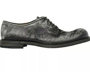 2019 DernièRe Conception Jil Sander Rayures Effet Bluchers Derby Chaussures à Lacets Gris Uk 7 Eu 40 Rrp £ 722-afficher Le Titre D'origine