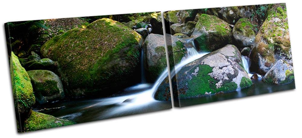 Stream Landscapes MULTI Leinwand Wand Kunst Bild drucken