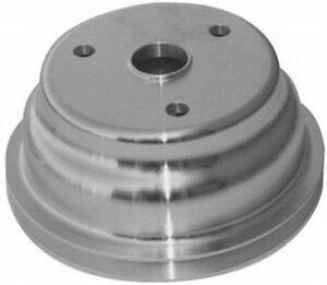 Single-Groove-Crankshaft-Pulley-Polished-Aluminum-SB-Chevy-V8-R9484POL