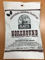 Claeys Horehound Old Fashioned Hard Candy 24 Pack 6oz Bags Free Shipping