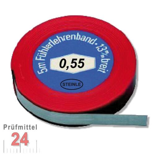 Fühlerlehrenband 0,55 mm 5m Fühlerlehre Abstandslehre Fühlerlehren Fühllehre