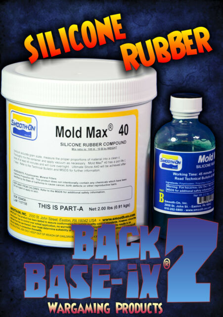 Liquid Silicone Rubber Compound Smooth On Mold Max 40 Trial Kit 1kg/2.2lbs