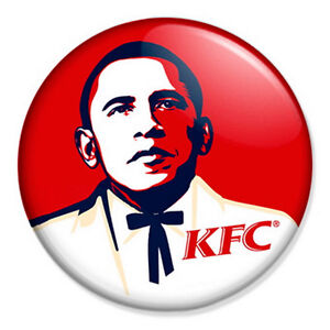Barack-Obama-KFC-25mm-1-Pin-Badge-Button-Kentucky-Fried-Chicken-Colonel-Sanders