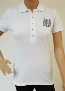Ladies Austin Reed White Polo Shirt Stretch Short Sleeve Size 8 Button Fasten Ebay