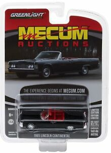 `65 Lincoln Continental Cabrio Black 1965 *** Greenlight Mecum 1:64 OVP NEU