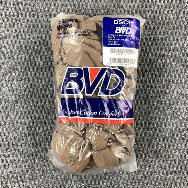 3 Paire militaire américain homme BVD 100/% Coton Briefs ** NOUVEAU ** taille 32