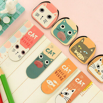 2X Cartoon Cats Kitten Magnet Bookmark Stationery Souvenir Collection Kids HS