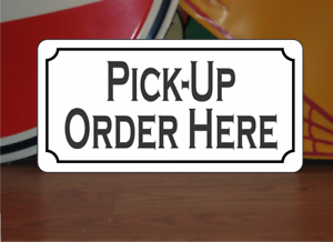 """PICK UP ORDER HERE Metal Sign 6/""""x12/"""" for Restaurant Food Truck"""