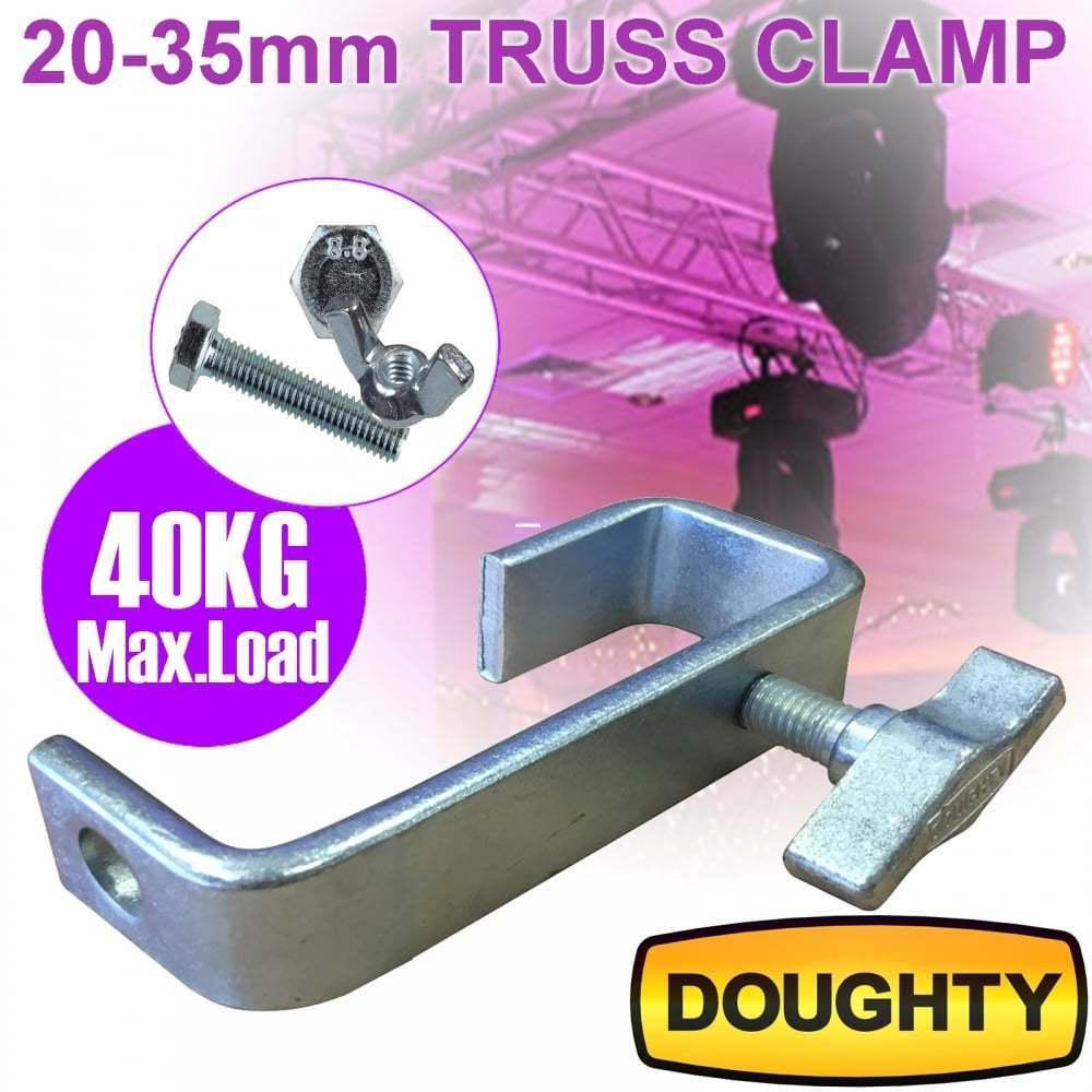 35mm Doughty Heavy Duty Truss Hook Clamp 40Kg Load inc Bolts DJ Lighting *SALE*