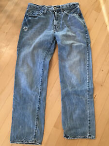 Womens-American-Eagle-Distressed-Jeans-Size-28-30-Relaxed-Straight-Leg