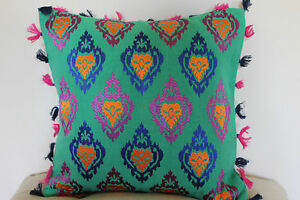 Details About Beautiful Khaadi Handwoven Fabric Embroidered Cushion With Floral Design